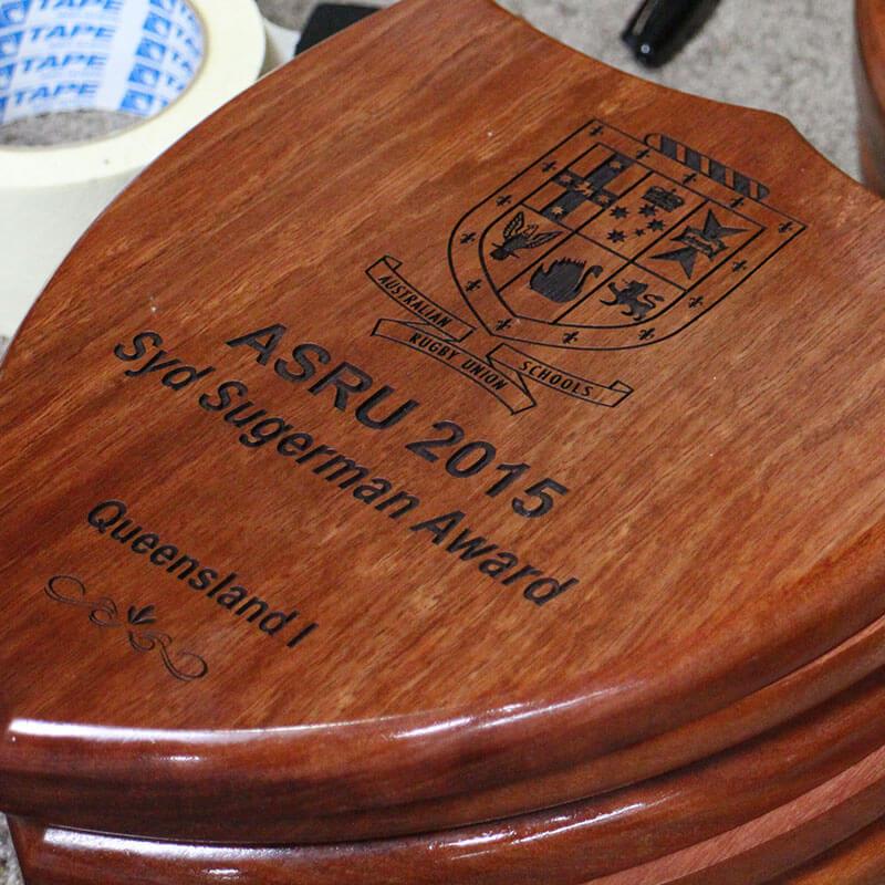 Engraving on timber