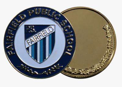 Fairfield Public School Custom Medal