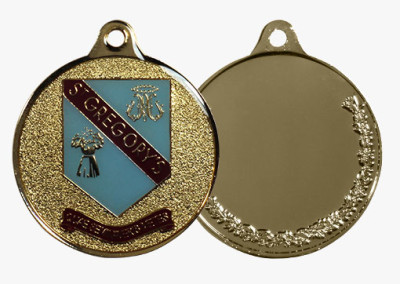 St Gregory's Custom Medal